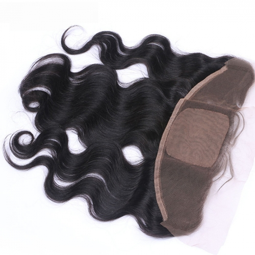 Silk Based Lace Frontal 13*4 Body Wave Virgin Hair Unprocessed Human Hair with Baby Hair Swiss lace Osolovelybeauty