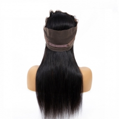 Osolovelybeauty 360 Lace Frontal Closure Straight Hair 360 Frontal Closure With Baby Hair Non Remy 100% Human Hair Extension