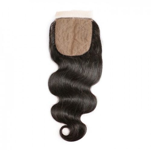 Silk Base Closure Remy Body Wave Human Hair Closure 3 Layers Lace Sew In 1 Piece Pre Plucked With Baby Hair Full End 4x4 Silk Top Closure