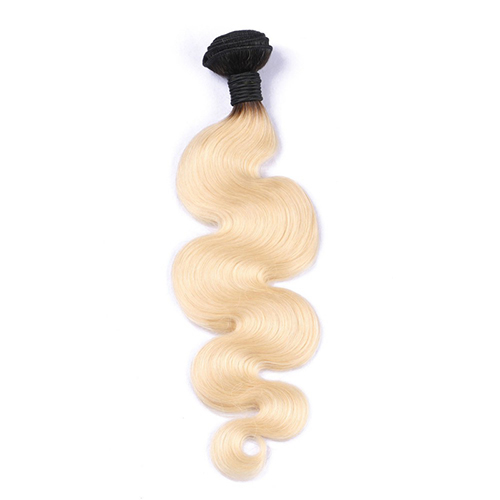Osolovelybeauty 1Pc Body Wave 1b/613 Color 10-30 inch 100% Human Virgin Hair Extension