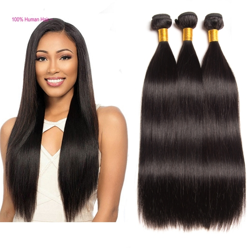 Osolovelybeauty Hair Straight Bundle 3 Pcs 10-30 inches Can Buy Mix Lengths Human Hair Weave Bundles Human Virgin Hair Extensions