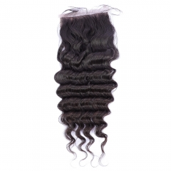 Osolovelybesuty Hair Deep Wave 5x5 Silk Base Closure 5x5 Silk Top Closure With Baby Hair Deep Wave Human Hair Closure