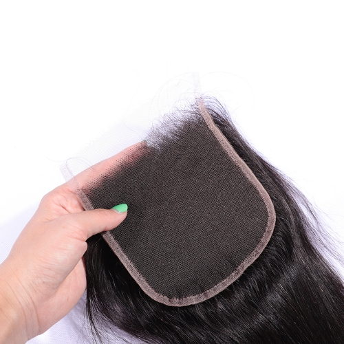 New Arrival Swiss HD Lace Closure 5x5 Lace Closure Straight Virgin Hair Free Part Pre pluncked Closure Unprocessed Human Hair