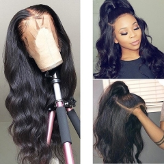 Osolovely Beauty Hair Human Hair Full Lace Wigs Pre Plucked Natural Hairline With Baby Hair Body Wave Hair Wigs